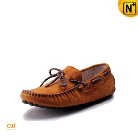 Mens Casual Gommino Driving Shoes Real Leather Laced | CWMALLS