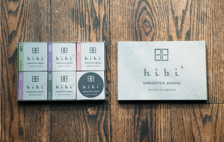 PRODUCT | hibi | 10MINUTES AROMA, MADE IN JAPAN
