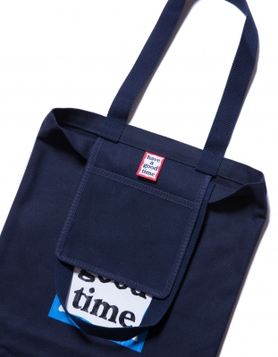 BLUE FRAME TOTE NAVY - have a good time