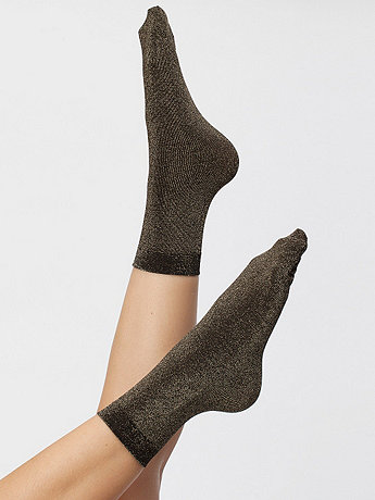 Sparkle Calf-High Sock | American Apparel