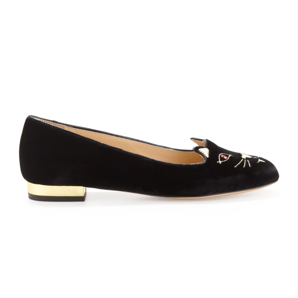 "Charlotte Olympia ""Bite Me Vampire Kitty Flat Shoes"""