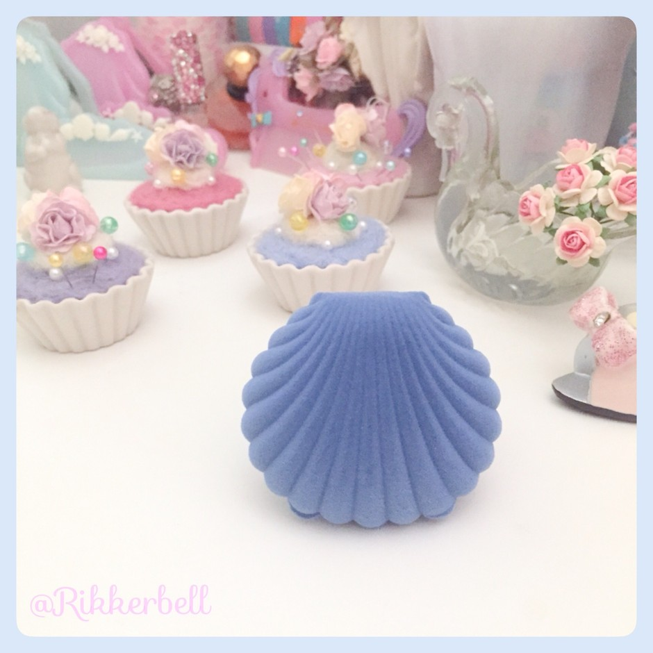 Shell Velvet Accessory Gift Box Blue - plamode