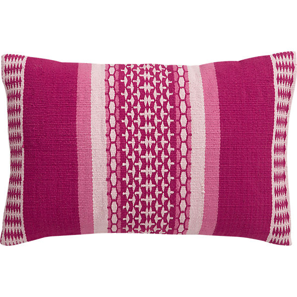 "saudades magenta 18""x12"" pillow in brasil collection 