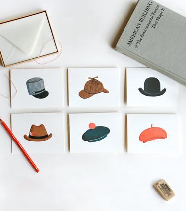 Rifle Paper Co. - Assorted Hat Card Set