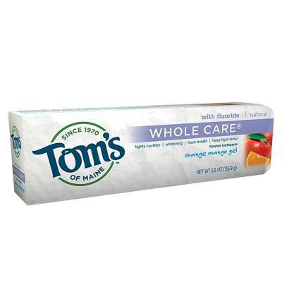 Toothpaste AntiCavity Whitening Fluoride Gel Orange-Mango 4.7 Ounce by Tom's of Maine