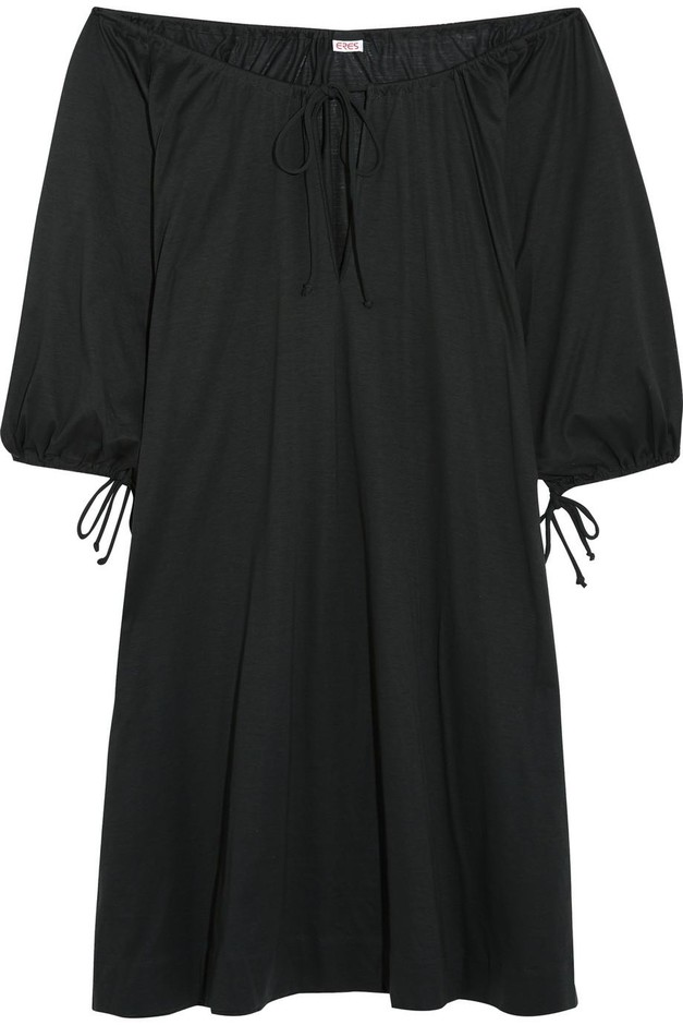 Eres | Zephyr Mimsy off-the-shoulder cotton-jersey dress | NET-A-PORTER.COM