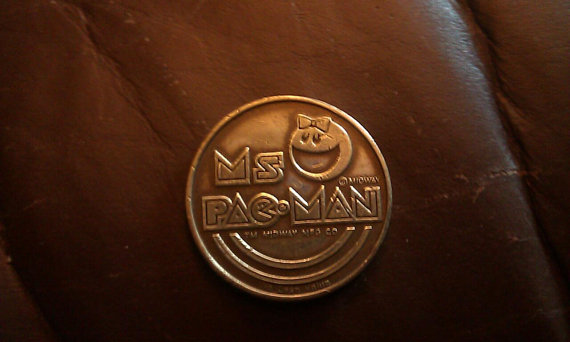 Vintage Rare Ms PacMan game token from the by ALilBitOEraThang
