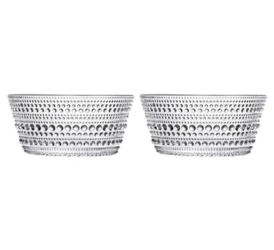 Dewdrop Bowls (Clear S/2) by Oiva Toikka