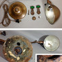 """Lighting&Electric - 1910-20's """"O.C.White"""" Brass Telescopic Desk Lamp 【PROPERTY - B of E - N.Y.CITY】 - FUNNY SUPPLY □ Antiques ■ - FUNNY SUPPLY"""