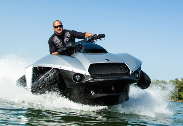 Gibbs outlines sales plans for new BMW-powered $40,000 Quadski land and sea ATV [w/video]