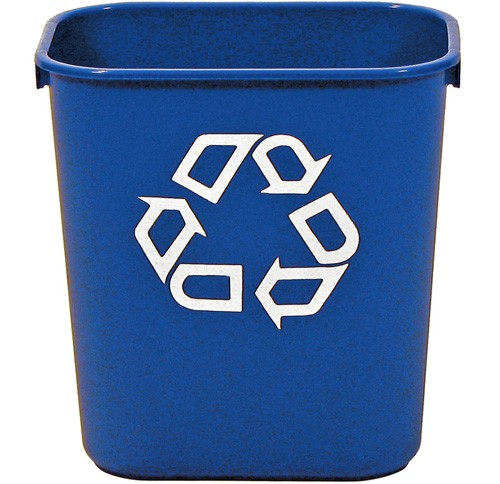 Rubbermaid [2955-73] Deskside Recycling Container - 13 5/8 qt. - Recycling Bins & Cans - UnoClean.com - Jan/San Cleaning Supplies & Equipment