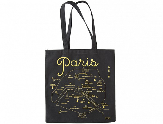 Maptote | Paris Black Everyday Tote