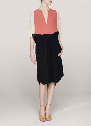 Chloé - Colour-block midi dress | Multi-colour Casual Dresses | Womenswear | Lane Crawford - Shop Designer Brands Online