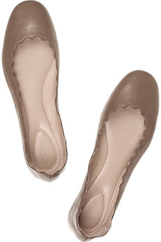 Chloé | Metallic leather ballet flats | NET-A-PORTER.COM