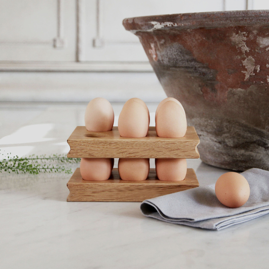 Hopandpeck | Solid Oak Egg Rack (Pair)