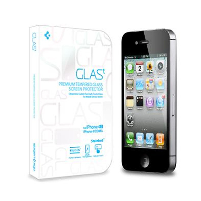AppBankStore : 【iPhone4S/4 フィルム】GLAS.t Premium Tempered Glass Screen Protector: SPIGEN SGP: 保護フィルム
