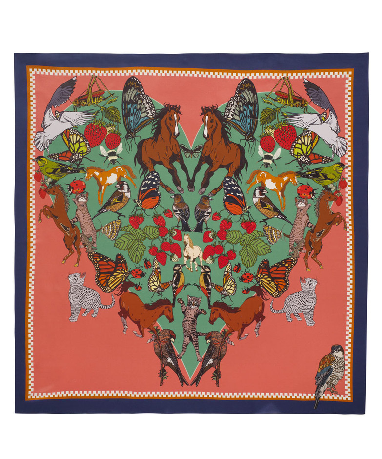 I Love Everything Silk Scarf. Shop the Silken Favours collection exclusively at www.liberty.co.uk