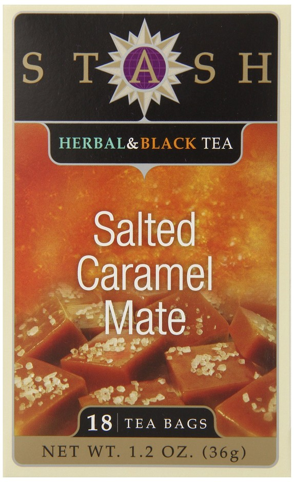 Amazon.com : Stash Tea Teabags, Salted Caramel Mate, 18 Count (Pack of 6) : Grocery & Gourmet Food