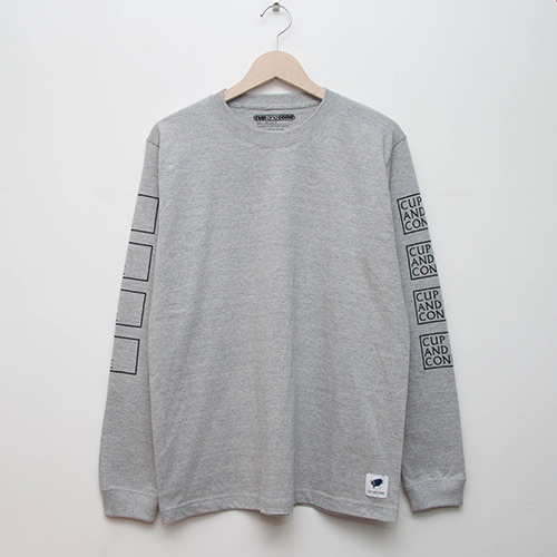 Cup of Spring L/S - Grey - cup and cone WEB STORE