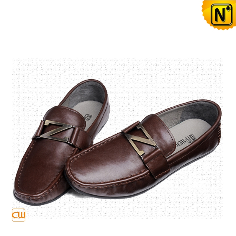 Mens Casual Leather Driving Shoes CW713191 | CWMALLS