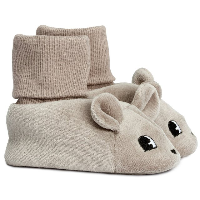 (13) Fancy - Velour Mouse Slippers by H&M Baby