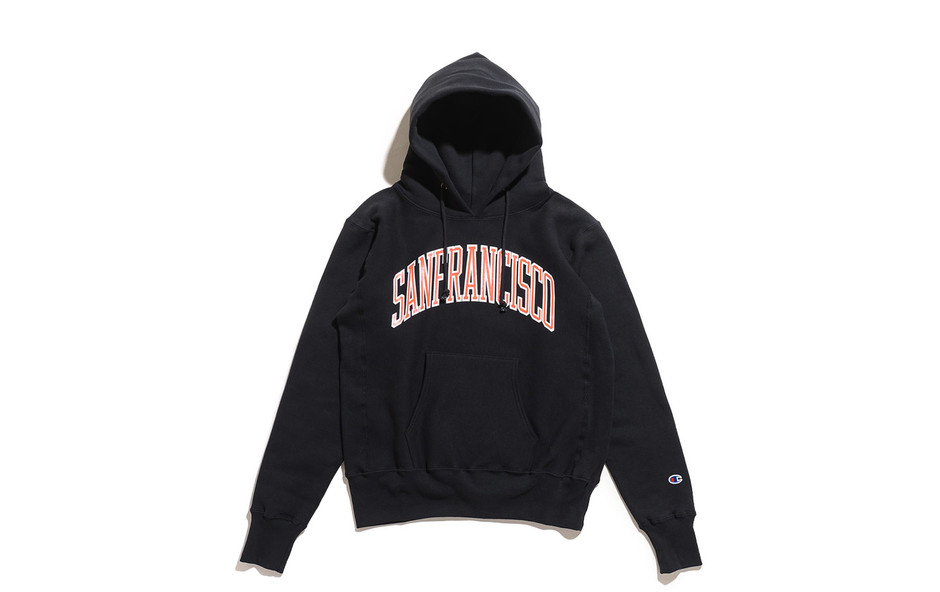 Reverse Weave Pull Over Sweat Parka Printed-Black