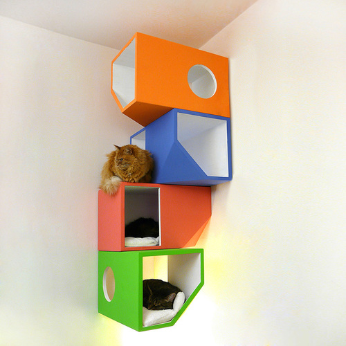 catissa: a four storey house for cats | We Heart It