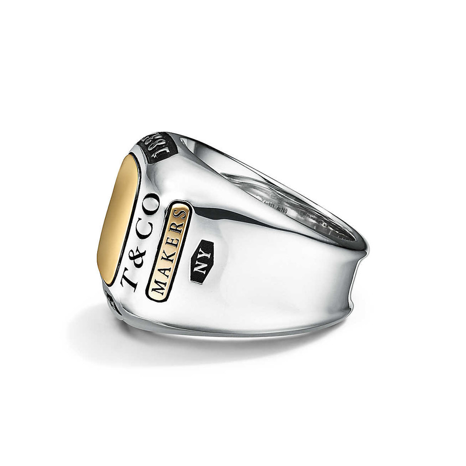 Tiffany 1837® Makers trophy ring in sterling silver and 18k gold.   Tiffany & Co.