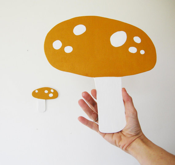 Yellow Mushrooms by HermanMarie on Etsy