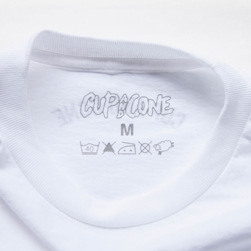 Long Sleeve Tee - White - cup and cone WEB STORE