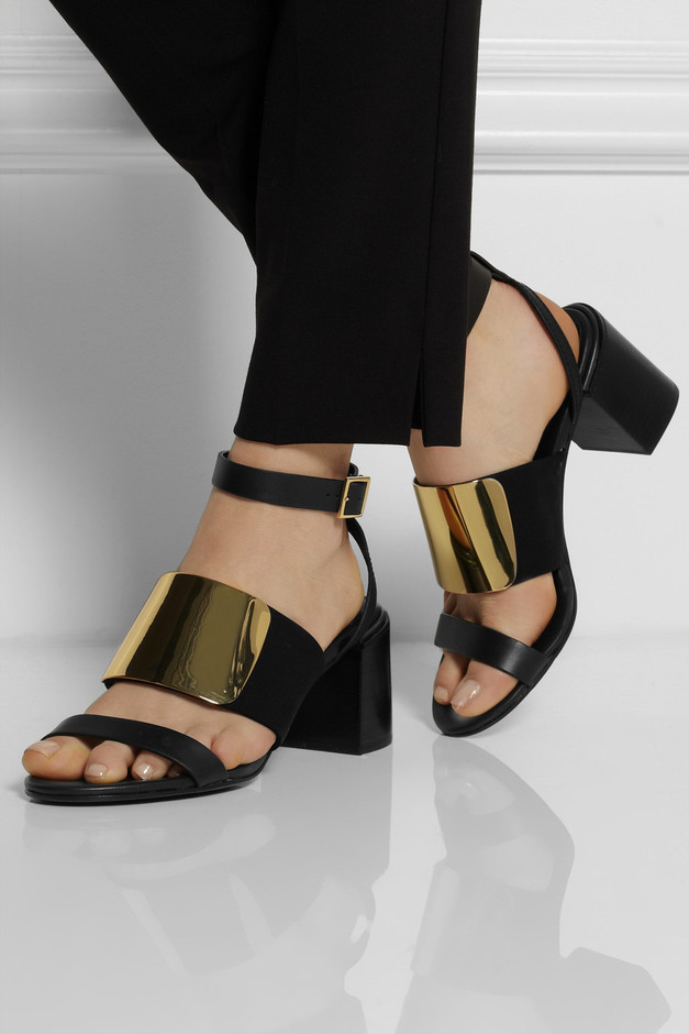 See by Chloé | Metallic and leather sandals | NET-A-PORTER.COM