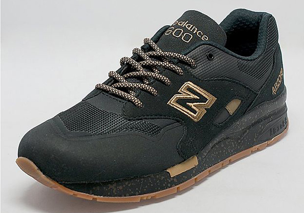 The New Balance 1600 Gets The Winning Combo of Black, Gold, and Gum - SneakerNews.com