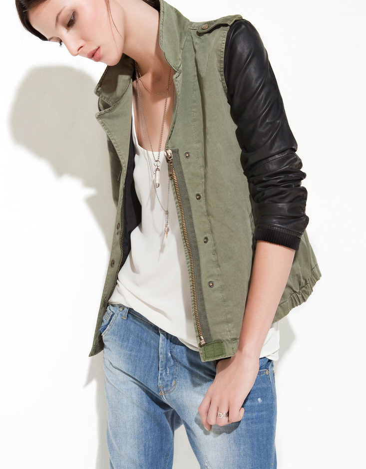 COMBINED SLEEVE JACKET - TRF - New this week - ZARA United States