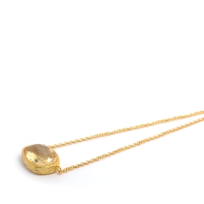 18K Gold Vermeil Lemon Quartz Necklace : Arylza - Serendipity, Online Shopping For Vermeil and 925 Sterling Silver Jewelry
