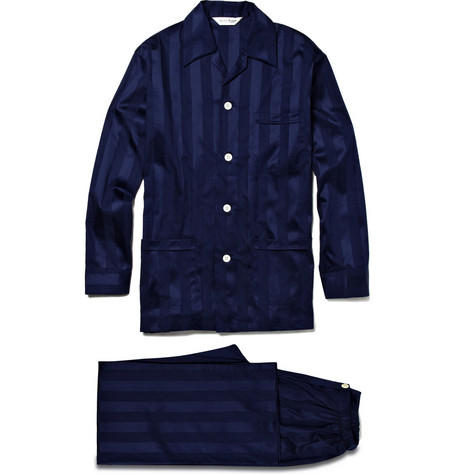 Derek Rose Lingfield Striped Cotton Pyjama Set | MR PORTER