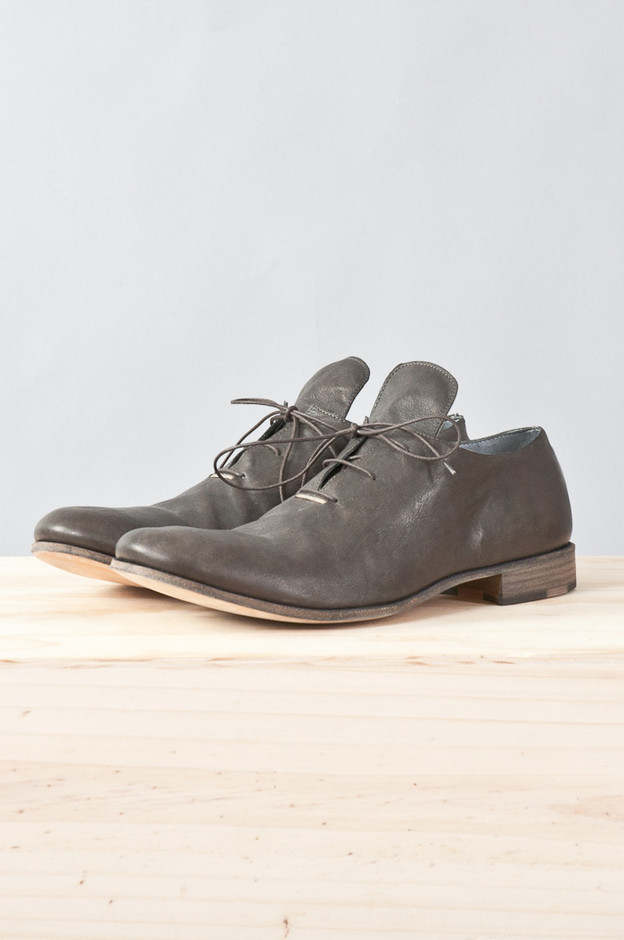 kangaroo leather silver-staple derby — re. porter