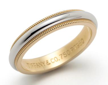 Milgrain wedding band ring