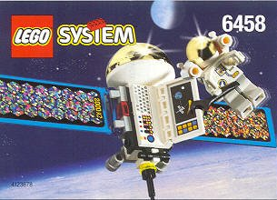 Bricker - Construit par LEGO 6458 Satellite with Astronaut