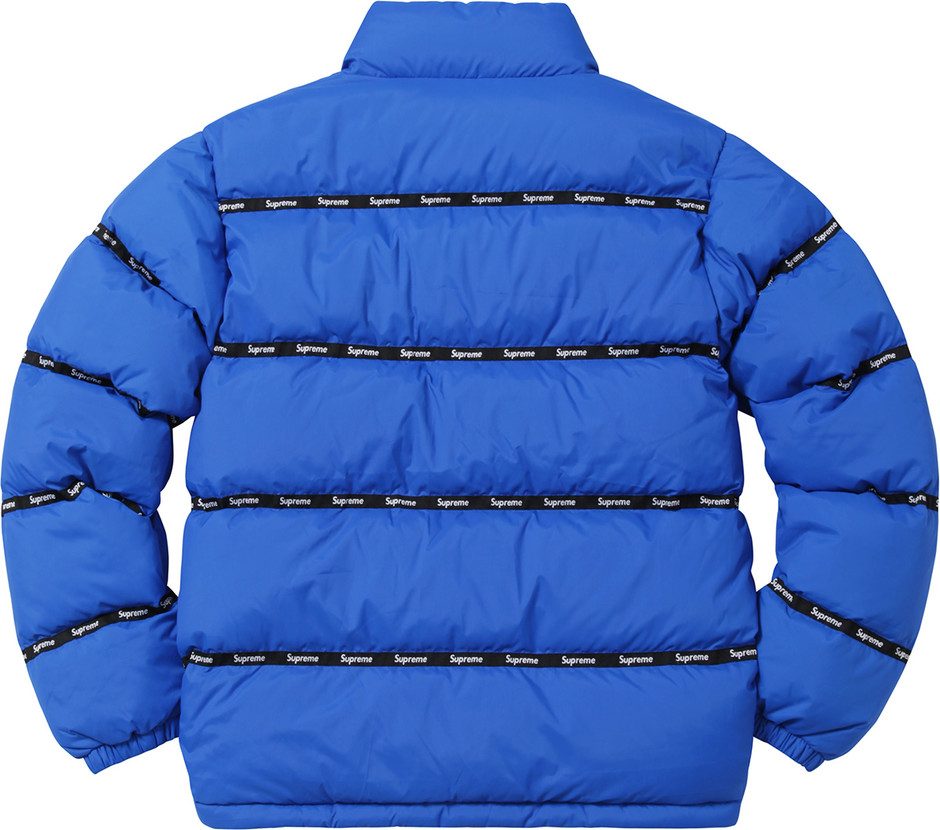 Supreme Logo Tape Puffy Jacket