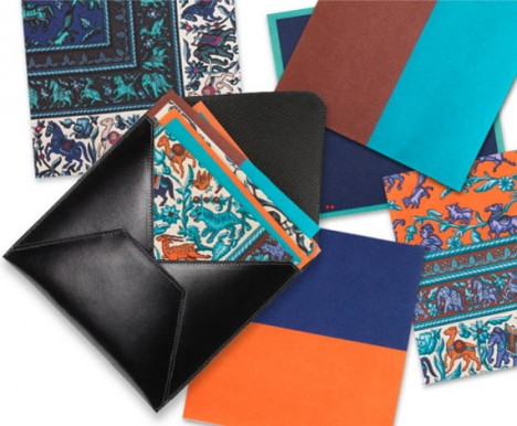 Hermès Leather & Scarf Print Origami Set | LUXUO Luxury Blog