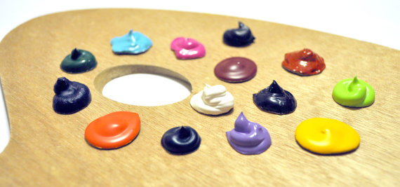 Real Paint Glob Magnets Set of 5 Artsy Gift by CutenessFactory