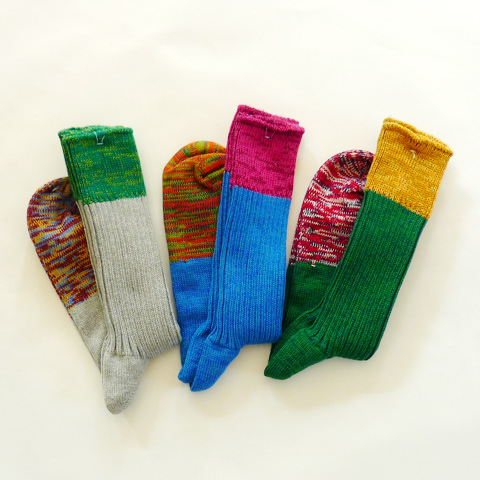 Vestible ColorBlock Socks - Silver and Gold Online Store