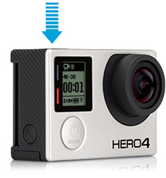 GoPro - HERO4 Black camera - 2x the performance. 4K30, 2.7K50 and 1080p120 video.