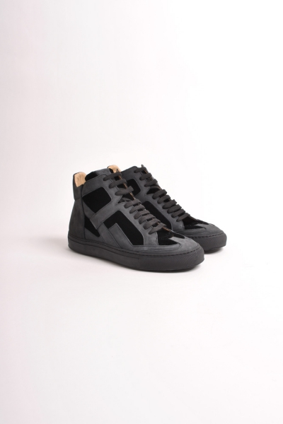 SSAW Store - High Top Sneaker Black NEW MM6-S40WS0015 BLACK