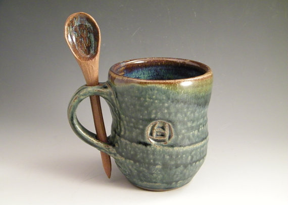 Coffee Mug Stir Things Up by LorettaWrayPottery on Etsy