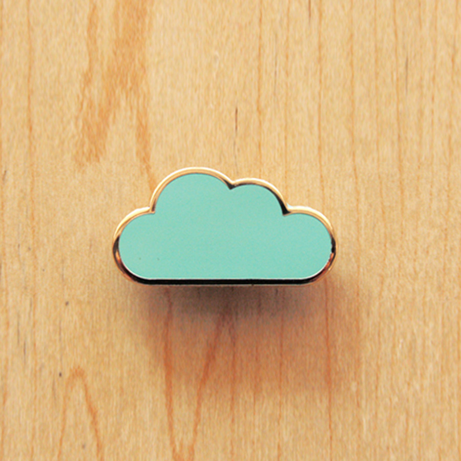 the little dröm store — Origami pin : Cloud, Umbrella