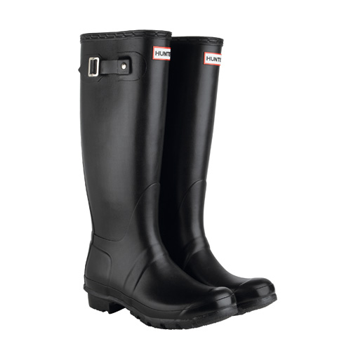 HUNTER ORIGINAL LEATHER (BLACK) / HUNTERBOOTS