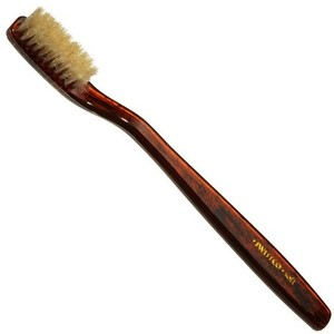 Swissco Tortoise Natural Bristle Toothbrush - Tooth Brushes... - Polyvore