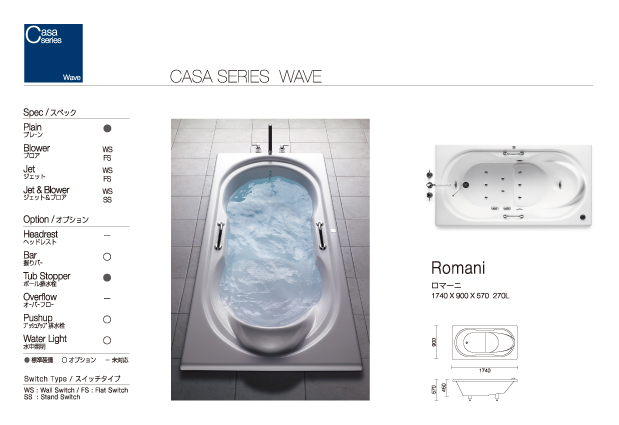 Romani | wave | Casa | SERIES | PRODUCTS | JAXSON CORP.