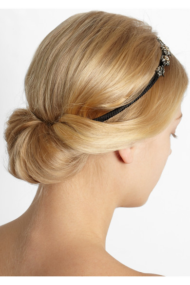 Lanvin | Crystal-embellished braided cotton headband | NET-A-PORTER.COM